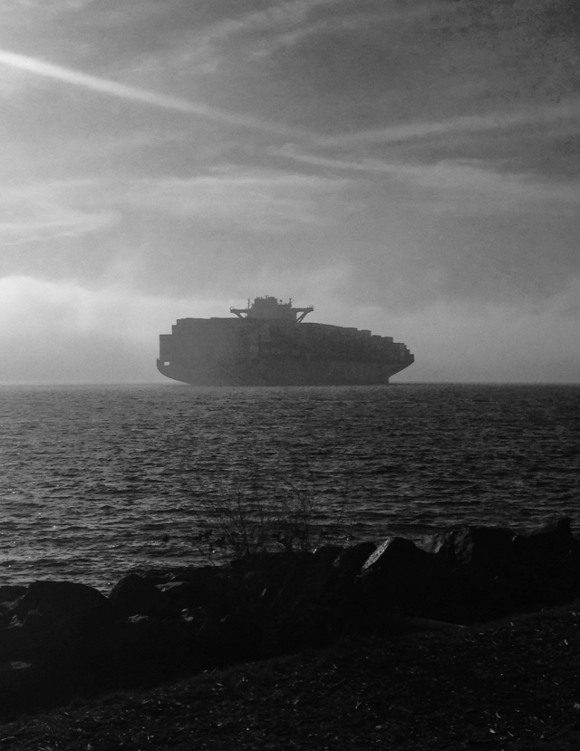 Container ship, Elliott Bay