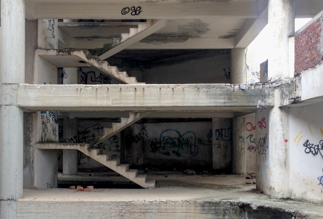 abandoned 02 stairways