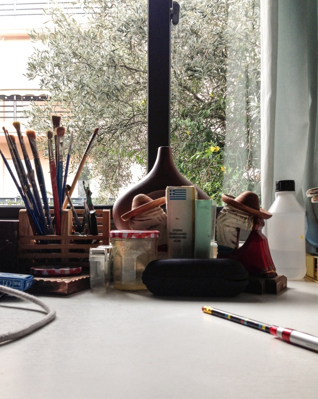 still life - desk and window